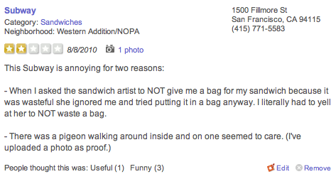 Damn sandwich artist