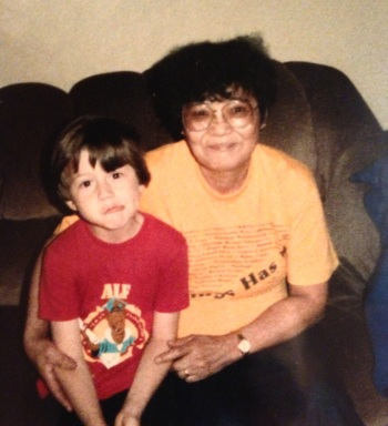 Derek and Grandma, circa 1990?