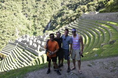 Ferd, Glen, me and Bryan at Wiñay Wayna