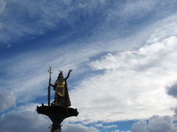 Pachacuti, who is honored with a statute in the Plaza de Arms in Cusco, expanded the Inca empire from the valley of Cusco to nearly the whole of western South America
