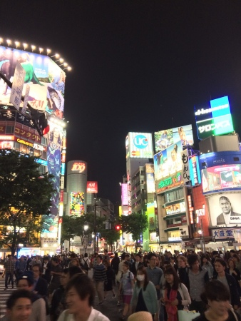When traveling on business, you have to work to see the sights. That's why one night I kidnapped my colleague and took him on a field trip to Shibuya crossing to see the famed intersection. With little research we hoped on the train, found our way, and even stumbled into a local watering hole.